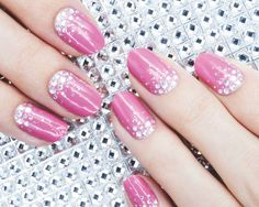 Avon Nail Art Design Strips in Hot Pink Bling. #mani
