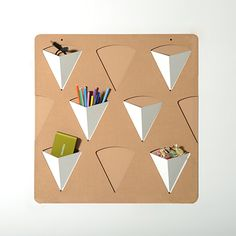 Pigreco modular organization system made ​​of corrugated cardboard, with removable pockets