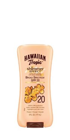 Hawaiian Tropic Shimmer Effect SPF 20 Lotion 6Fluid Ounce *** More info could be found at the image url.(This is an Amazon affiliate link and I receive a commission for the sales)