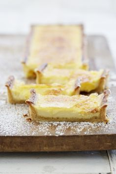NOMU is an original South African food and lifestyle concept by Tracy Foulkes. Tart Recipes, Sweet Recipes, Dessert Recipes, Yummy Recipes, Custard Tart, Custard Slice, Delicious Desserts, Yummy Food, Sweet Bakery