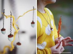 diy ideas with acorns  via fraeulein-klein.blogspot.de