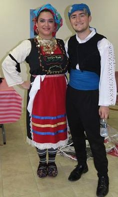 Traditional Greek Thracian folk costumes from Metaxades, Evros.
