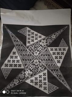 Blackwork, Diy And Crafts, Cross Stitch, Embroidery, Crochet, Pattern, Cards, Alphabet, Geometric Embroidery