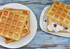 Vafe pufoase reteta simpla pentru aparatul de gofre Waffles, Pancakes, Breakfast, Sweets, Morning Coffee, Waffle, Pancake, Morning Breakfast, Crepes