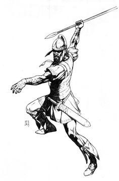 Thracian Soldier 1 by ChekydotStudio