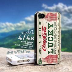 Vintage Coca Cola Design - for iPhone 4/4s Black Case   GoToArt - Accessories on ArtFire