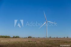 Wind turbine in a Kansas field.