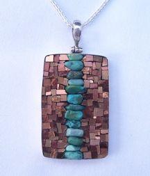 I love this handmade mosaic jewellery