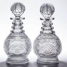 ANGLO-IRISH DIAMOND-POINT AND FINE DIAMOND CUT GLASS,  First half 19th century