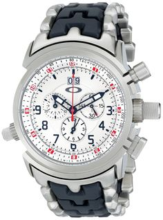 Oakley Men's 10-058 12 Gauge Chronograph Stainless Steel Bracelet Edition Watch