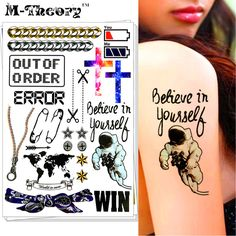 M-Theory Cool Temporary Makeup Fake Tattoos Henna Tatouage Body Art Tatuagem Tatto Flash Tatoos Sticker Swimsuit Makeup Tools