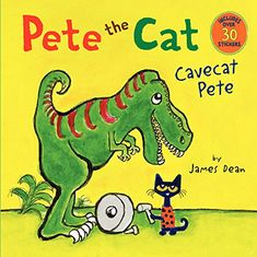 One of Phoenix's Valentine's Day presents this year, he loves Pete the Cat: Pete the Cat: Cavecat Pete by James Dean http://www.amazon.com/dp/0062198637/ref=cm_sw_r_pi_dp_Un8Vub0MGW7NA