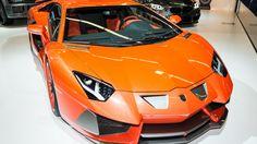 Orange Lamborghini Aventador Supercar Wallpaper - http://www.gbwallpapers.com/orange-lamborghini-aventador-supercar-wallpaper/ (Aventador, Lamborghini, Orange, Supercar, Wallpaper / Cars)