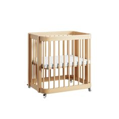The Wave Crib   Natural Wood Modern Convertible Mini-Crib and Full Crib with Toddler Bed   Nestig Safety Shop, Matching Family Pajamas, Mini Crib, Crib Mattress, Wood Accents, Learning Toys, All About Eyes, Maternity Wear, Midcentury Modern