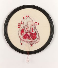 "via moshita: anatomical embroidery Megan Canning Can I make a ""pulls at my heartstrings"" joke? What? Oh, I already did that in..."
