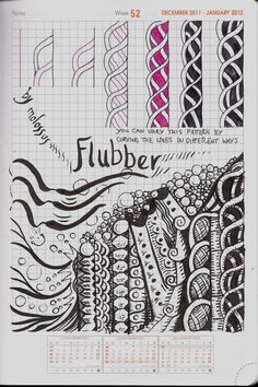 Life Imitates Doodles: My tangle pattern Flubber