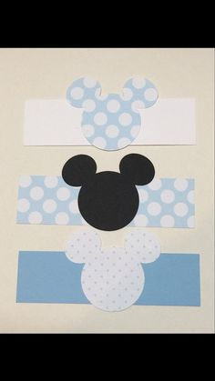 Baby shower Mickey Mouse napkin wraps