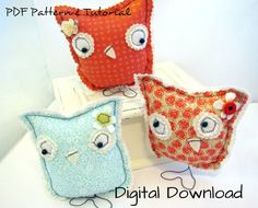 Owl DIY Sewing Pattern PDF Tutorial Instant by hartstringz on Etsy, $8.00
