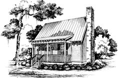 Cabins & Cottages Under 1,000 Square Feet: Gin Creek Plan #738