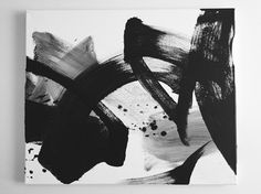 Black&white Abstract painting