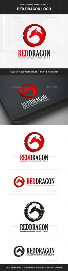 Red Dragon Logo Template — Transparent PNG #template #game • Available here → https://graphicriver.net/item/red-dragon-logo-template/18082991?ref=pxcr
