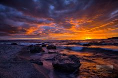 Fire in the Sky, Wharewaka Point, Lake Taupo, New Zealand. by Primal Earth Images, via Flickr