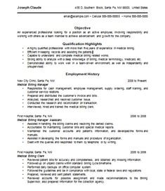Sample research paper on medical billing