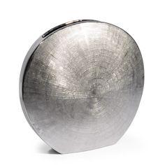 Maanvormige vaas Silver klein model