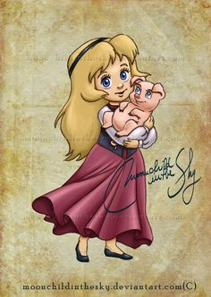 Child Eilonwy by moonchildinthesky.deviantart.com on @deviantART