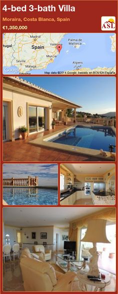 4-bed 3-bath Villa in Moraira, Costa Blanca, Spain ►€1,350,000 #PropertyForSaleInSpain