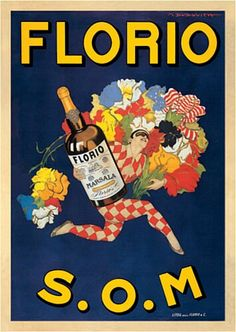 Florio S.O.M. Marsala Wine poster