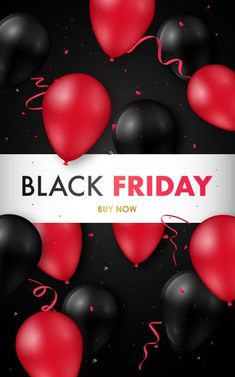 Black friday sale poster with glossy black and red balloons. Download it at freepik.com! #Freepik #vector #banner #sale #black #promotion Red Balloon, Balloons, Black Banner, Banner Drawing, Facebook Cover Template, Sale Banner, Red Paint, Sale Poster, Banner Template