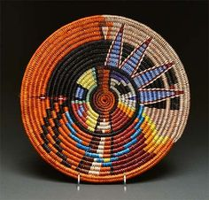 Another gorgeous coiled Plaque by Elsie Holiday (Navajo)