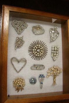 Another nice vintage jewelry display.  Find Everything you need to re-create this look at Sleepy Poet Antique Mall!