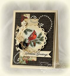 Backyard Cardinal by PickleTree - Cards and Paper Crafts at Splitcoaststampers