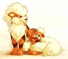 Artist Growlithe and Arcanine by request.