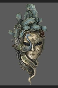 Material Performance Exercises for Teacher Pan of Guangzhou Famous Animation Tianhe Campus Desenhos Tim Burton, Venice Mask, Venetian Carnival Masks, Beautiful Mask, Masks Art, Clay Art, Art Inspo, Sculpture Art, Amazing Art