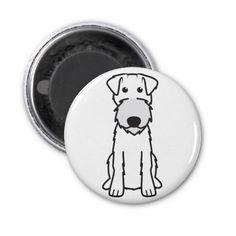 Irish Terrier Dog Cartoon Refrigerator Magnets