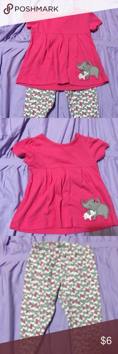 Carter's Outfit 18 month outfit from Carter's. Pink shirt with elephant detail. Matching elephant leggings. Carter's Matching Sets