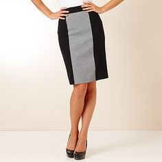 City Dressing Panelled Pencil Skirt With Print