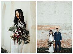 Bride in modest wedd