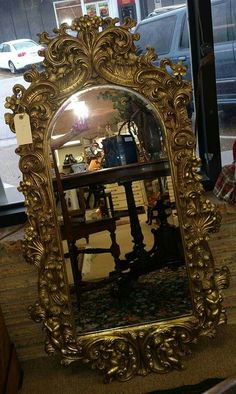 "French Beveled Mirror with Cherubs 46"" x 26"""