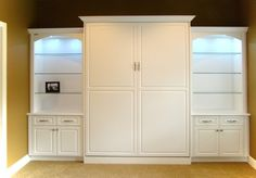 White Wall Bed with Raised Panel Cabinet | California Closets [I picked it for a second room - ctl]