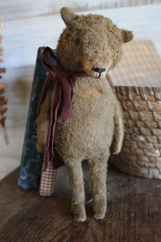 cinnamon creek dry goods | 2015 | Charlie - Standing Bear He stands 10 '' tall ( a little wire stand holds him up ) This Sweet and charming little guy would just look cute anywhere you wish to put him ! 52.00 plus shipping....SOLD