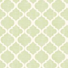 Sample 3  MEA79011 Light Green Watercolor Quatrefoil - Tabitha - Meadowlark Wallpaper by Chesapeake