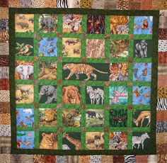 I spy animal quilt Eli would love this.good idea for a trip. Baby Quilts Easy, Baby Boy Quilts, Children's Quilts, Panel Quilts, Braid Quilt, I Spy Quilt, Snowman Quilt, Picnic Quilt, Quilted Gifts