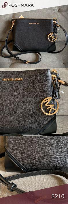 93286494c New Michael Kors Black Leather Crossbody Bag New Michael Kors black leather  crossbody bag. Durable