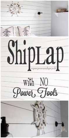 Shiplap with NO powe