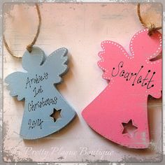 Personalised Wooden Christmas Tree by PrettyPlaqueBoutique on Etsy
