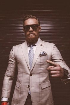 Conor McGregor, the biggest name in the fight game. a well dressed irish man, chose him because he is successful and very stylish. Conor Mcgregor Suit, Mcgregor Suits, Connor Mcgregor, Der Gentleman, Gentleman Style, Ufc, Notorious Conor Mcgregor, Champion, Millionaire Mentor